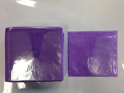 100 Purple Double Cd Dvd Blu Ray Video Game Plastic Sleeve Envelope Hold 200