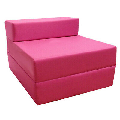 Pink Budget Fold Out Z Bed Futon Kids Sleepover Guest Chair Sofabed Mattress