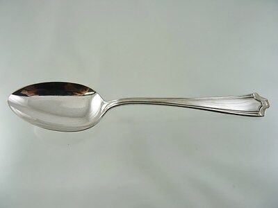 CHEVRON 1930 OVAL SOUP or DESSERT SPOON BY 1881 ROGERS