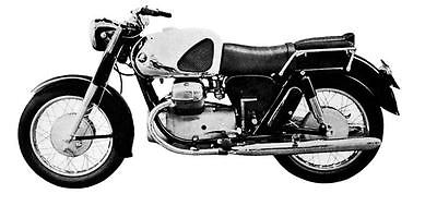 1961 Marusho Lilac MF19 Motorcycle Factory Photo J1979