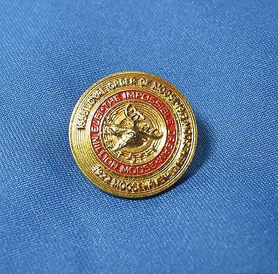Vtg Moose Mooseheart  Moosehaven Impossible Dream Red Enamel Pin Pinback 1973