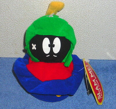 """LOONEY TUNES CLASSIC COLLECTION MARVIN THE MARTIAN 4"""" PLUSH BEAN BAG SLAMMER"""