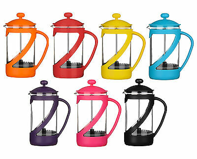 Kenya 4 Cup Cafetiere Coffee Bright Coloured Heat Resistant Glass Tea 600ml Cup