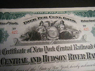 New York Central and Hudson River 1901 4% $1,000 Bond to Extend 1853 Debt WOW