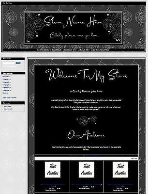 Roses & Butterflies Full Ebay Store Front Package