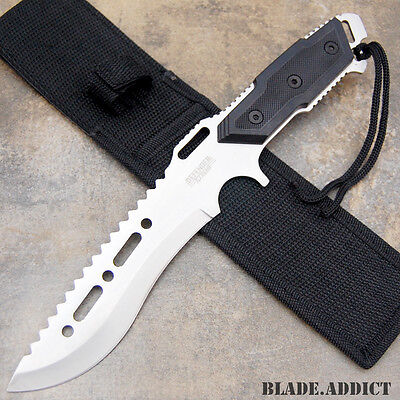 "12"" Fixed Blade Tactical Combat Hunting Survival Knife w/ Sheath Bowie Outdoor"
