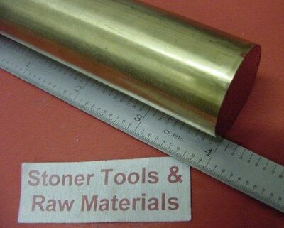 "1-3/8""  BRASS C360 SOLID ROUND ROD 4"" long New Lathe Bar Stock 1.375"" OD H02"