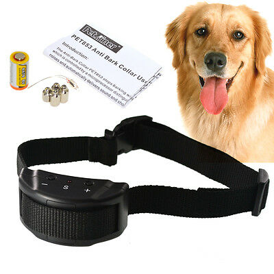 Dog Obedience Trainer E-Collar Stop Anti-Bark Control  Human System UK Stock