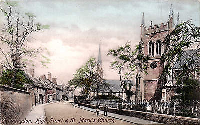 Huntingdon. High Street & St Mary's Church # 55420 by Frith.