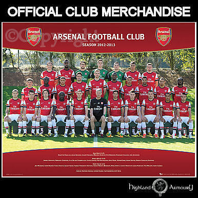 Arsenal Football Team 2012-13 Poster Official Squad FC 40x50cm New MP1491