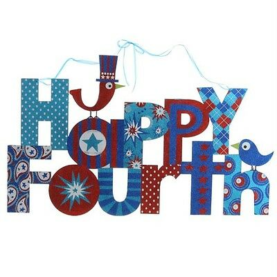 NEW RAZ 36 in Happy Fourth glitter letter sign fourth of july decoration 3256402