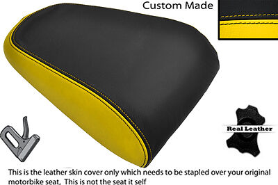 Yellow & Black Custom Fits Yamaha Mt 03 06-13 Rear Leather Seat Cover