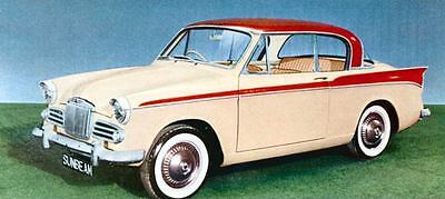 1958 Sunbeam Rapier Hardtop Factory Photo J766