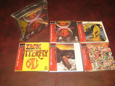 IRON BUTTERFLY IN A OBI JAPAN 5 CD Replica LP Sealed TREMENDOUSLY RARE Box Set