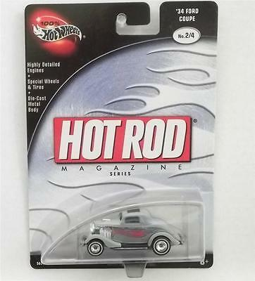 Hot Wheels 1934 Ford 34 Coupe Hot Rod Magazine Series New Mint 56572
