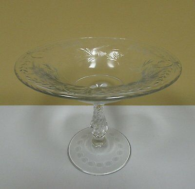 Antique elegant cut crystal intaglio tazza compote Hawkes Pairpoint