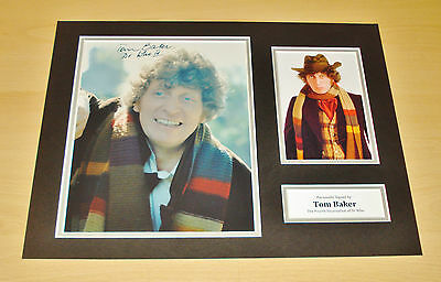 Tom Baker Dr Who SIGNED 16x12 Photo Display Genuine AUTOGRAPH 4th Doctor + COA