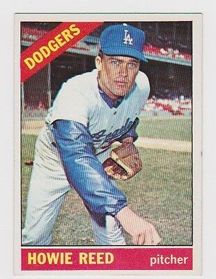HOWIE REED 1966 Topps Baseball # 387 Los Angeles Dodgers
