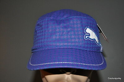 Puma Fairview Military Cap Blue.  Hat.One Size Fits All.. MSRP $22.00. Clearance