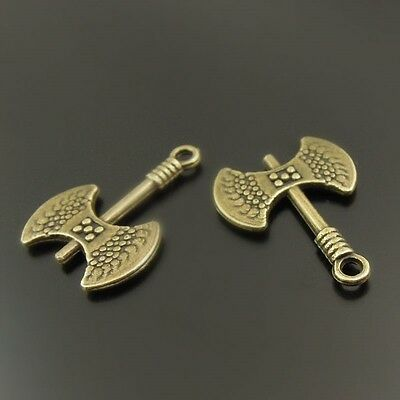70X Antiqued Bronze Tone Axe Pendant Findings Charms 18*16*2mm