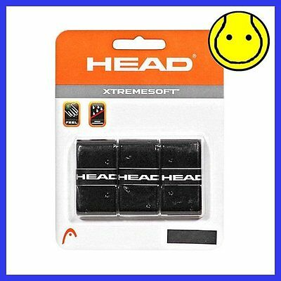 BLACK Head XTREME SOFT Tennis Overgrip 3 Pack - XtremeSoft Extreme