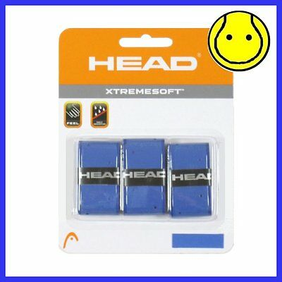 BLUE Head XTREME SOFT Tennis Overgrip 3 Pack - XtremeSoft Extreme
