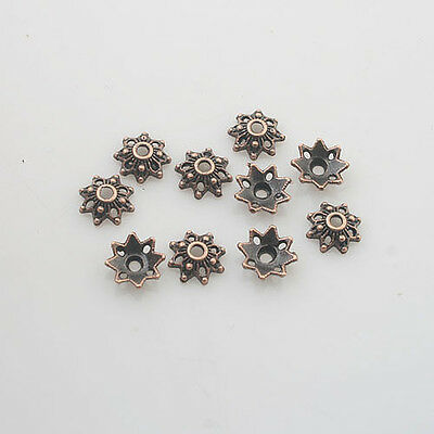 20//40//400pcs Tibetan Silver Bell Shaped Loose Bead Caps Jewelry Findings 6.5mm