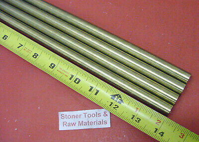 """4 Pieces 5/8"""" C360 BRASS SOLID ROUND ROD 14"""" long New Lathe Bar Stock .625"""""""