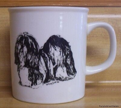 SHIH TZU or LHASA APSO Puppy Dog Collectible Coffee Mug / Cup PGMI Black & White