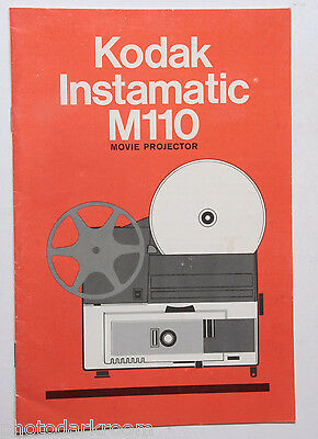 kodak movie m110 instaprojector instruction owners manual guide book