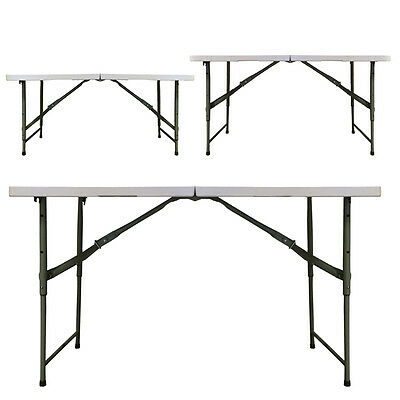 Redstone 4ft Folding Table - THREE Adjustable Heights - Metal Securing Bolts