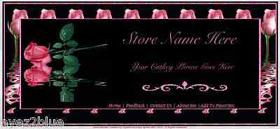 Beautiful Pink Roses Store Front Header Package