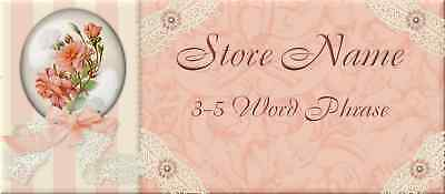 Victorian Flowers and Lace Store Front Header Template