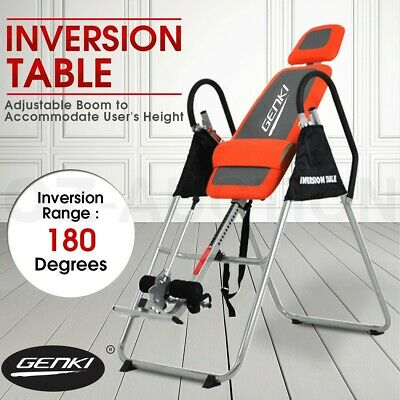 Genki Folding Upside Down Gravity Inversion Table Exercise Home Gym Fitness