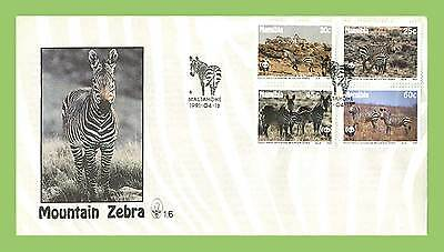 Namibia 1991 Mountain Zebra set on First Day Cover