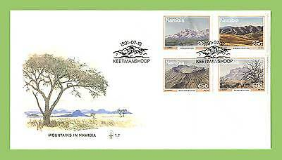 Namibia 1991 Mountains set on First Day Cover