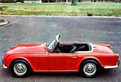 1964 Triumph Michelotti TR4 Sports Car Factory Photo J3309