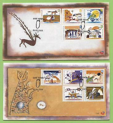 South Africa 2005 Folklore set on two First Day Cover