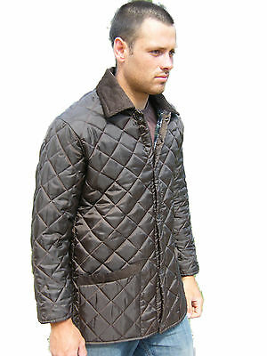 Campbell Cooper Brand New Adults Mens Brown Quilted Horse Riding Jacket Coat