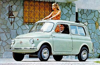 1967 Fiat 500 Giardiniera 3939 Factory Photo J3939