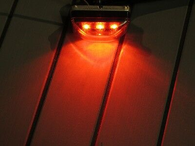 NEW LED 3-Diode Red Clearance Marker Light w/ Clear Lens Boat Trailer Camper RV