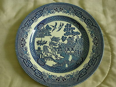 "8"" CHURCHILL ENGLAND BLUE WILLOW PATTERN Japan"