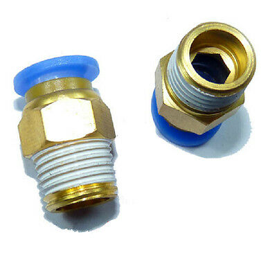 """10Pcs 1/8"""" PT Male Thread 4mm Push In Joint Pneumatic Connector Quick Fitting"""