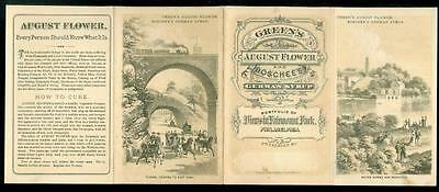 3 Fold Promotional Brochure Green's August Flower & Boschee's German Syrup 1870s