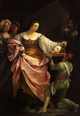 Stunning huge Oil Salome Guido Reni - salome with the head of john the baptist
