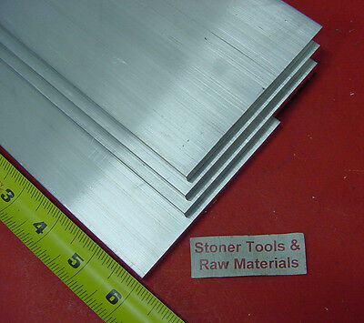 "4 Pieces 1/4"" X 4"" ALUMINUM 6061 FLAT BAR 6"" long T6511 .250"" Plate Mill Stock"
