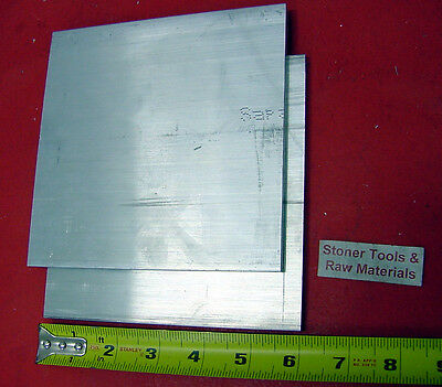 "2 Pieces 1/4"" X 6"" ALUMINUM 6061 FLAT BAR 6"" long .250"" T6511 Plate Mill Stock"