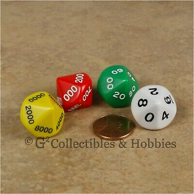 NEW 4 Place Value D10 Percentile RPG Game Dice Set Math Kolow