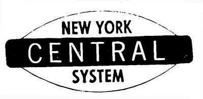 NEW YORK CENTRAL SELF ADHESIVE STICKER for AMERICAN FLYER S Gauge Trains