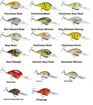 Strike King Kvd 1 5f Flat Side Crankbait Choice Of Colors